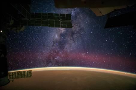 Via Láctea vista da Estação Espacial Internacional. Crédito de imagem : NASA/Reid Wiseman